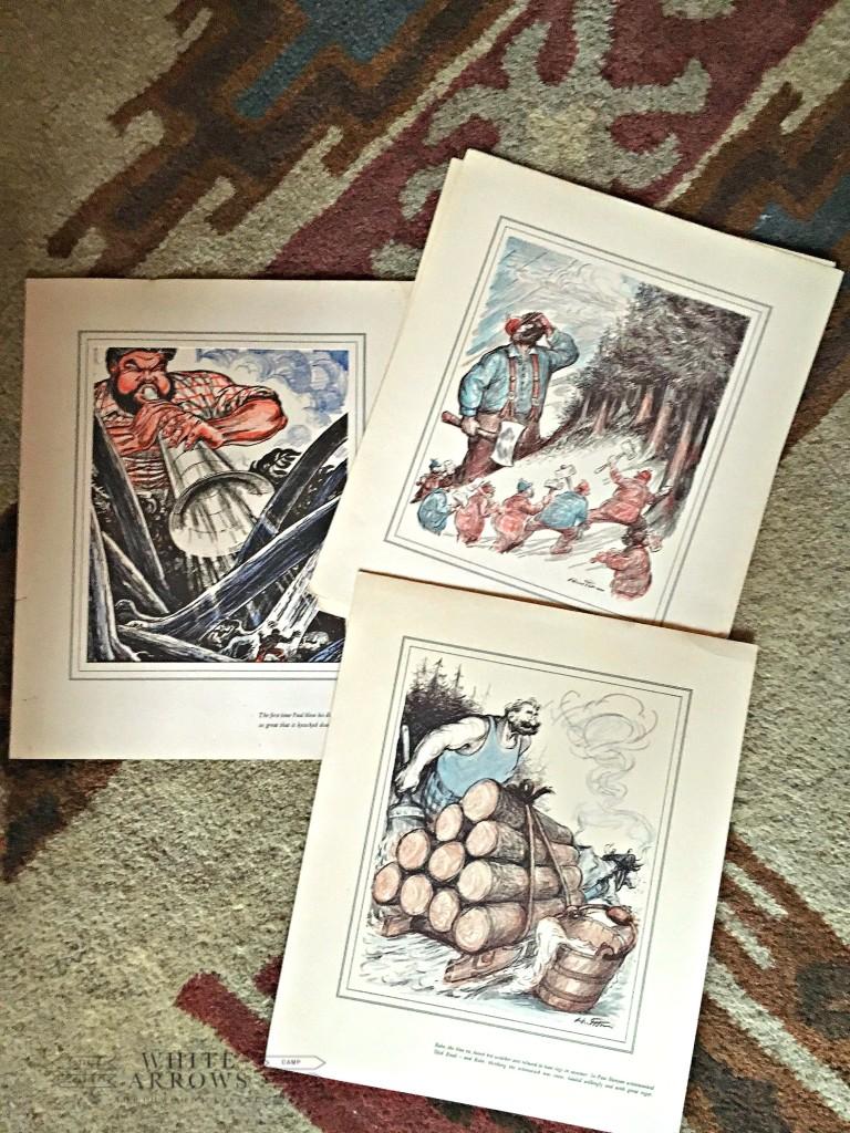 Paul Bunyan, Vintage Children's Book Pints