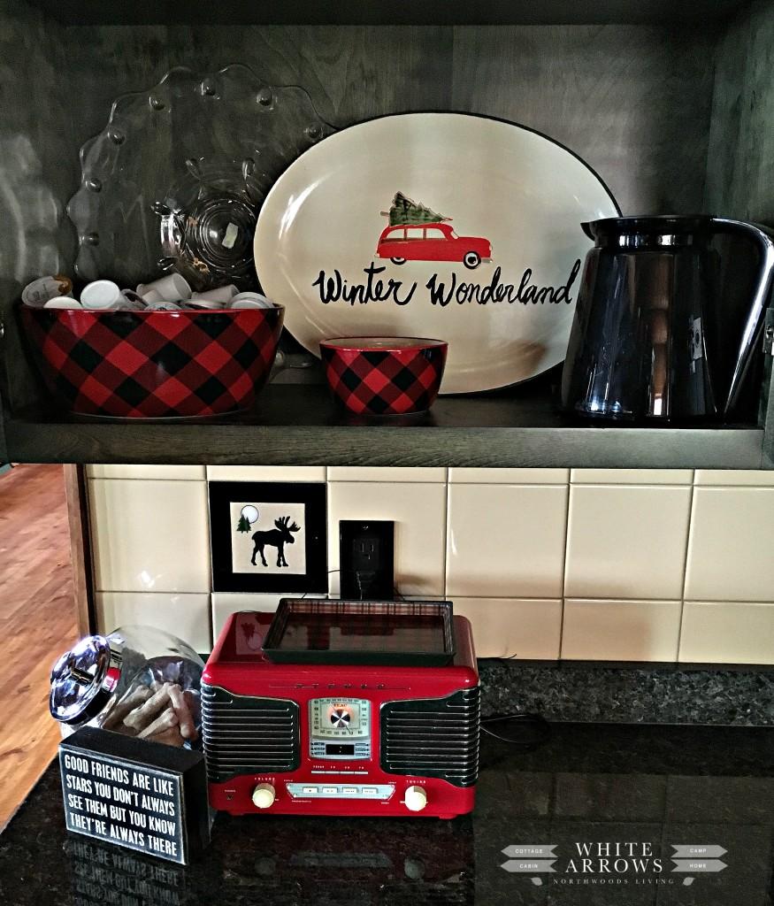 Buffalo Plaid, Coffee Bar, Buffalo Plaid Dishes, Winter Decor, Cabin Decor