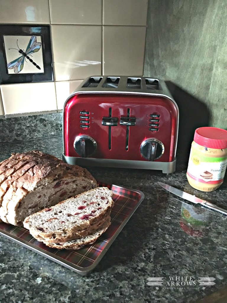 Eagle Baking Company, cranberry bread, toast, toast with peanut butter