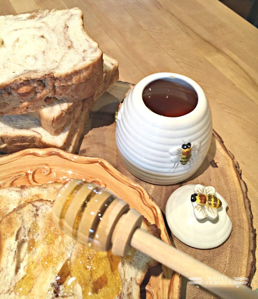 Eagle Baking Company, Honey, Bread and Honey, Toast and Honey, Apple Bread
