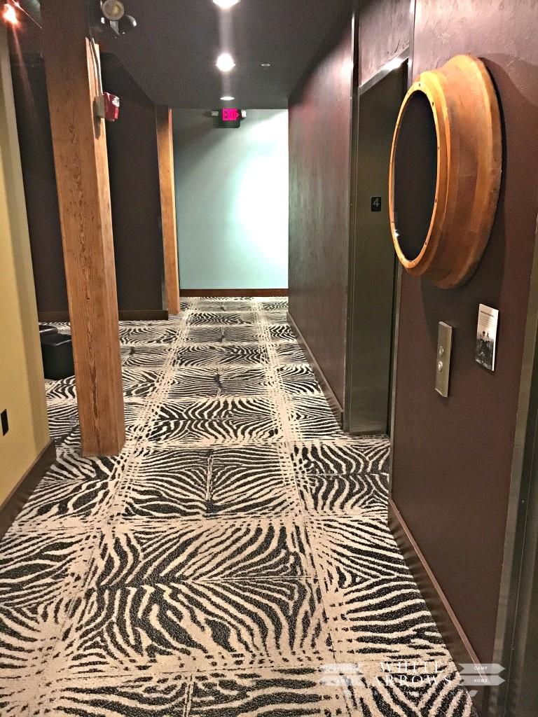 Ironhorse Hotel, Zebra Carpet, Hallway