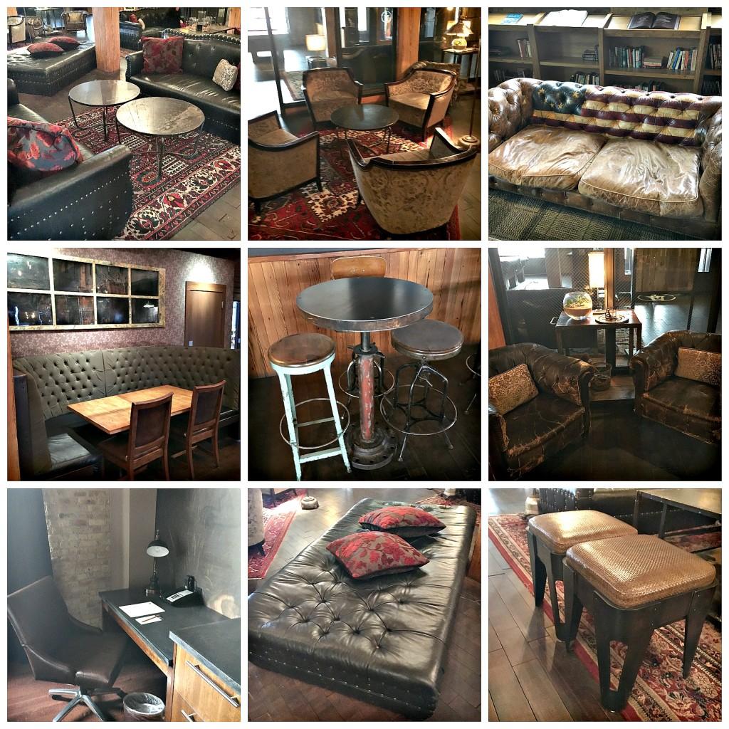 Seating, Ironhorse Hotel, Milwaukee, Industrial Design