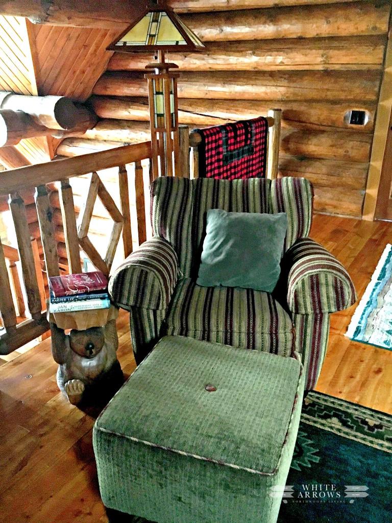 Log Home, Reading Chair