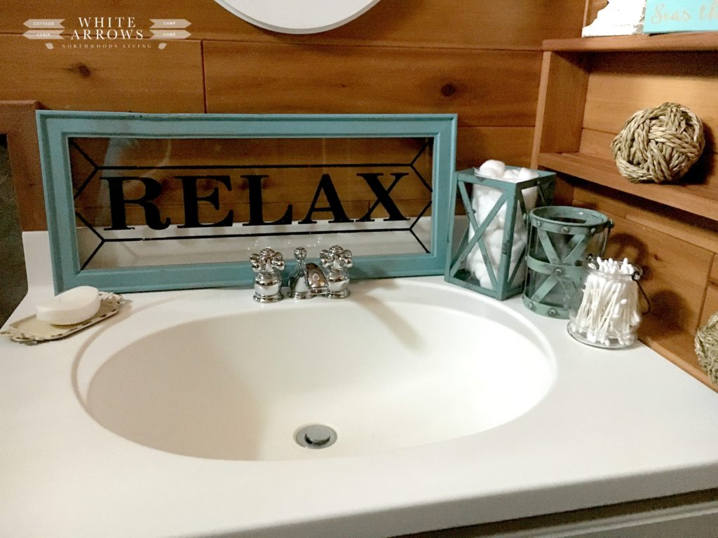 before and after, nautical, log cabin, bathroom