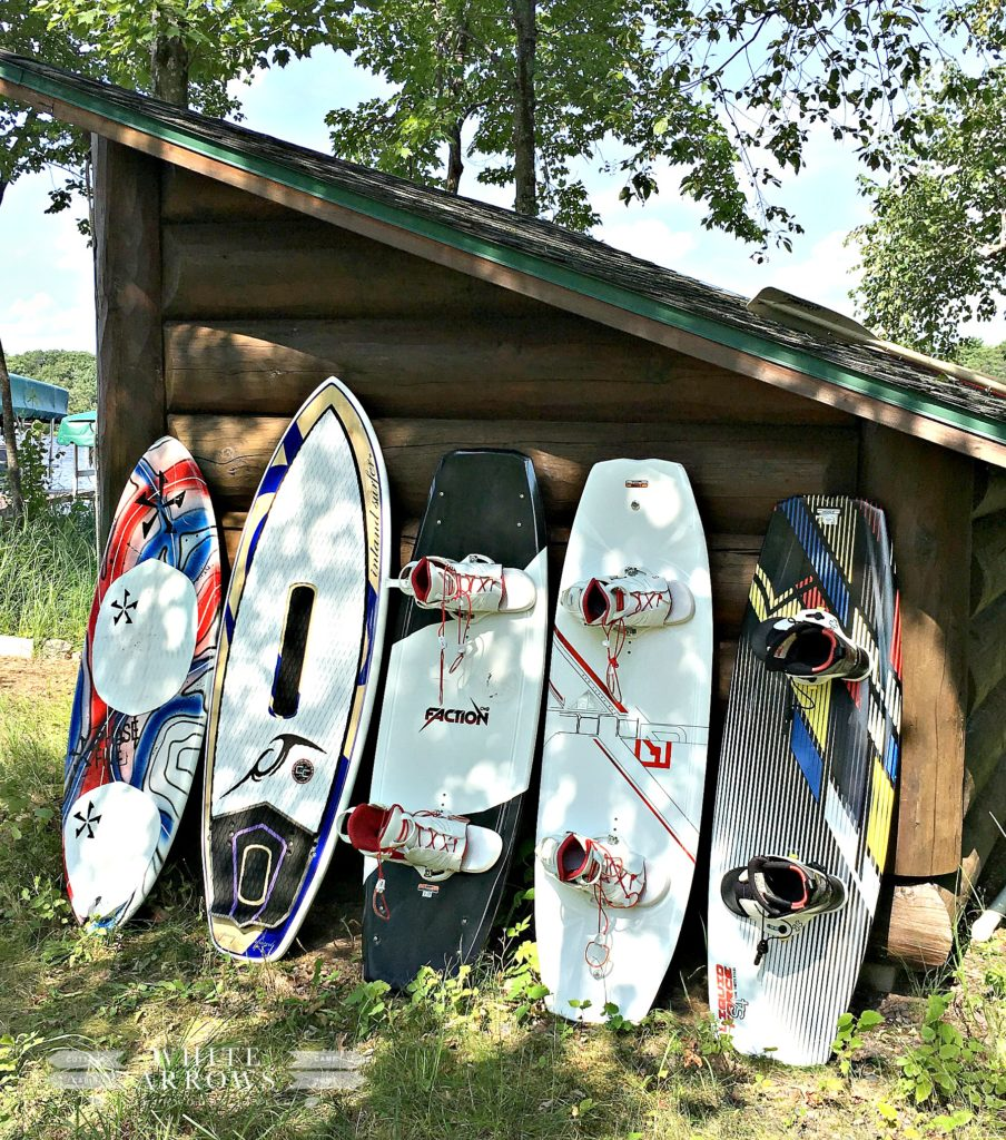 boat shed, wake board, surf board