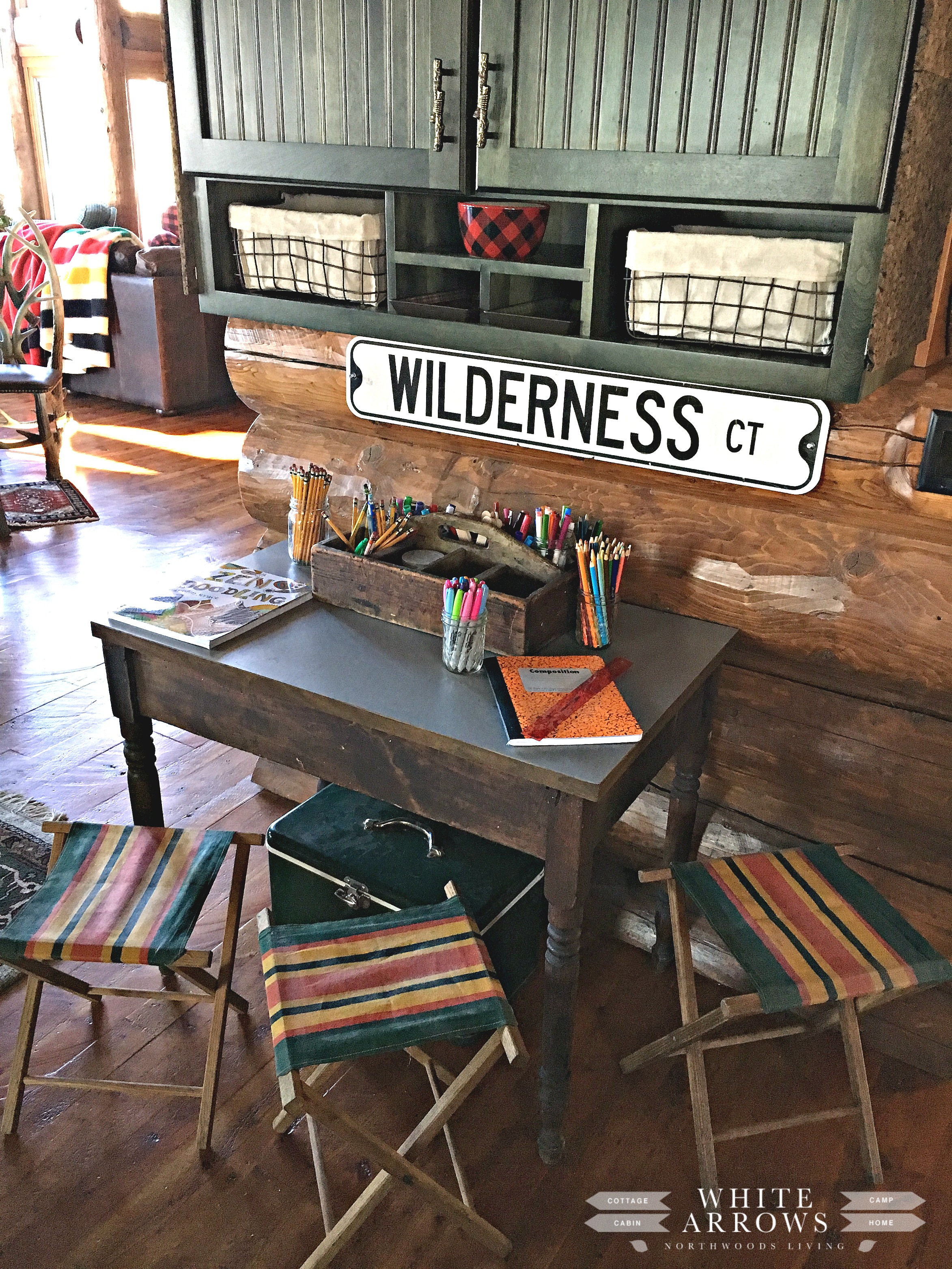 Cabin, Camp Style, Homework Station