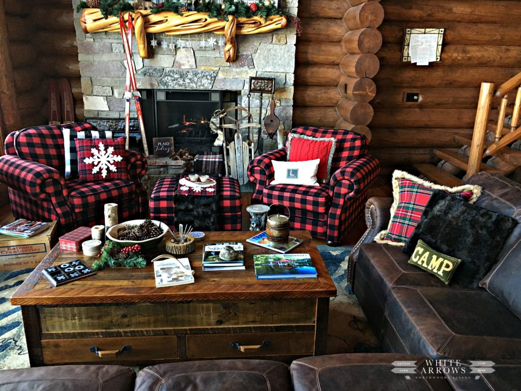 Buffalo Plaid, Leather Couch
