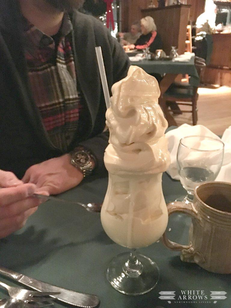 Ice Cream Drink, Supper Club, Norwood Pines, Northwoods, Wisconsin