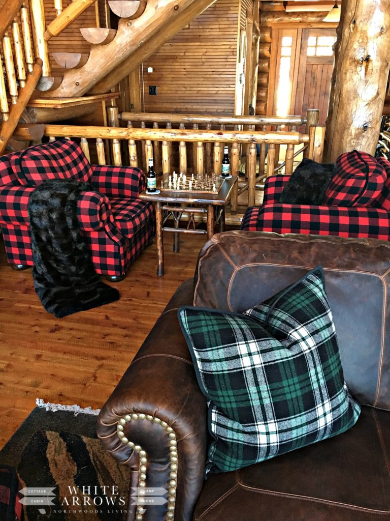 Plaid Decor, Rustic Decor, Chess Table, Buffalo Plaid, Cabin Decor, Log Cabin
