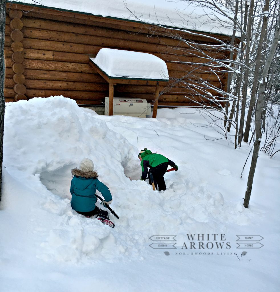 Winter Building Snow Forts