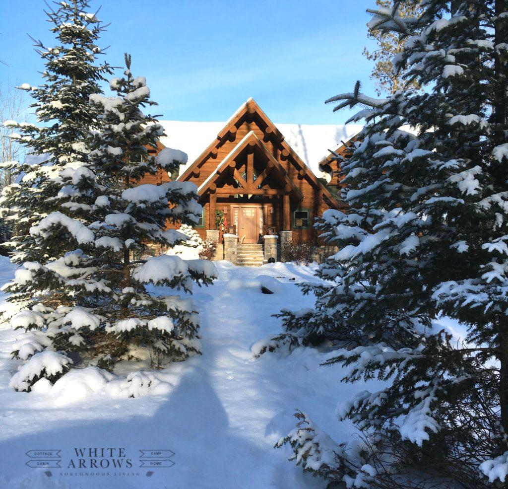 log cabin, cabin, cabin in the snow, log home