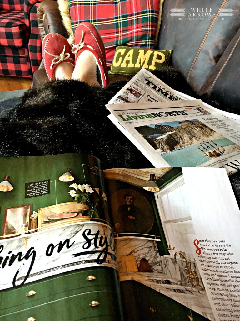 slippers, hygge, magazines, reading, cozy