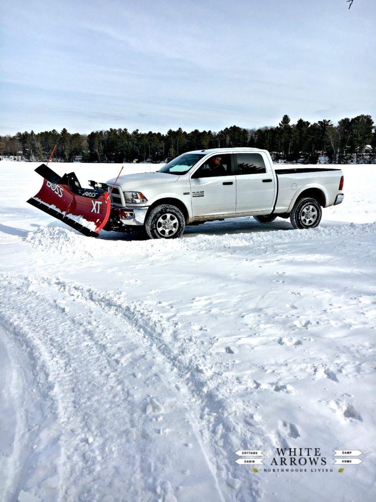 Plow Truck Lake Ice Rink