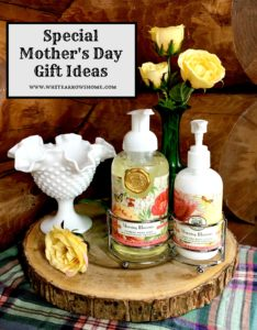 Mother's Day gift ideas, gifts, gift idea, specialty soap, specialty lotion, milk glass