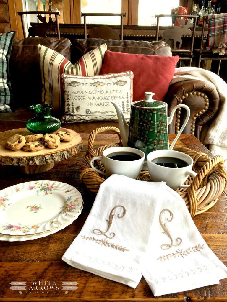Plaid, Coffee Pot, Tea Pot, Coffee Service, Tea Service, Plaid Coffee Pot, Cabin Decor, Cabin Style