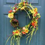 Spring Decor, Spring Wreath, Flower Wreath, Birds Nest Wreath, Grapevine Wreath