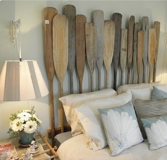 paddles, oars, paddle headboard, headboard, nautical, cottage decor