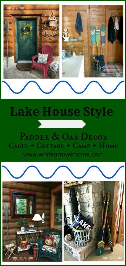 Lake House Decor, Paddle and Oar Decor, paddles, oars, vintage