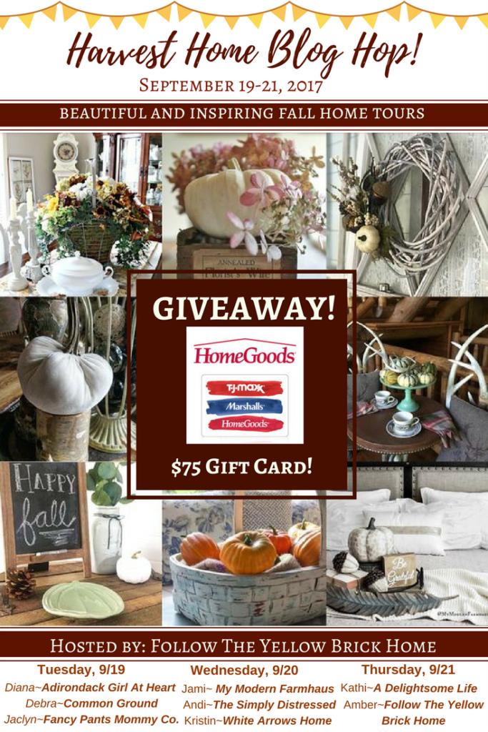 Home Goods, Marshalls, TJMaxx, Giveaway, Home Decor, Blog Hop, Harvest Home, Autumn Decor, Fall Decor, Blog Tour, Bloggers