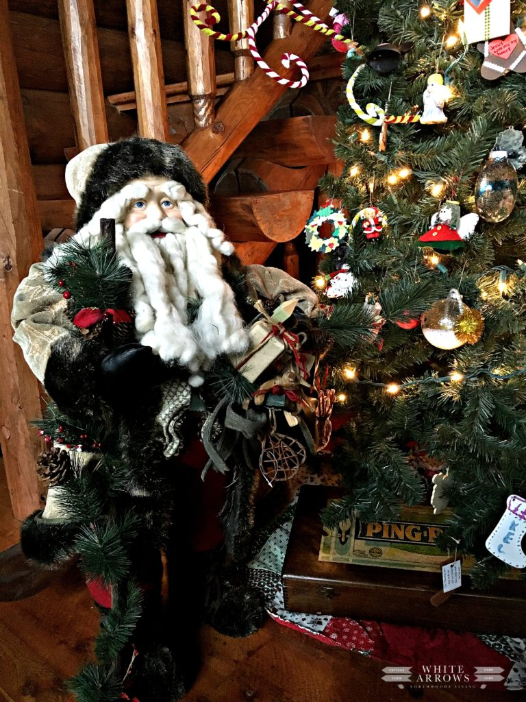 Christmas Tree, Lake House, Cabin, Cabin Christmas, Log Cabin, Santa, Vintage Christmas, Camp Christmas, Woodland Christmas Tree