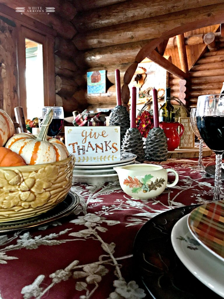 Thanksgiving Table, Fall Table, Autumn Table, Harvest Home, Vintage Dishes