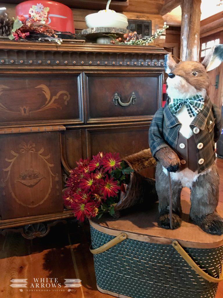 Rustic Decor, Antique, Pier One Fox, Fall Decor, Autumn Decor, Thanksgiving Decor