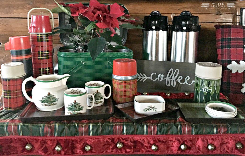 Spode Christmas Tree, Christmas dishes, Spode, Holiday dishes, coffee cups, Christmas mugs, Coffee Bar, Vintage Thermos