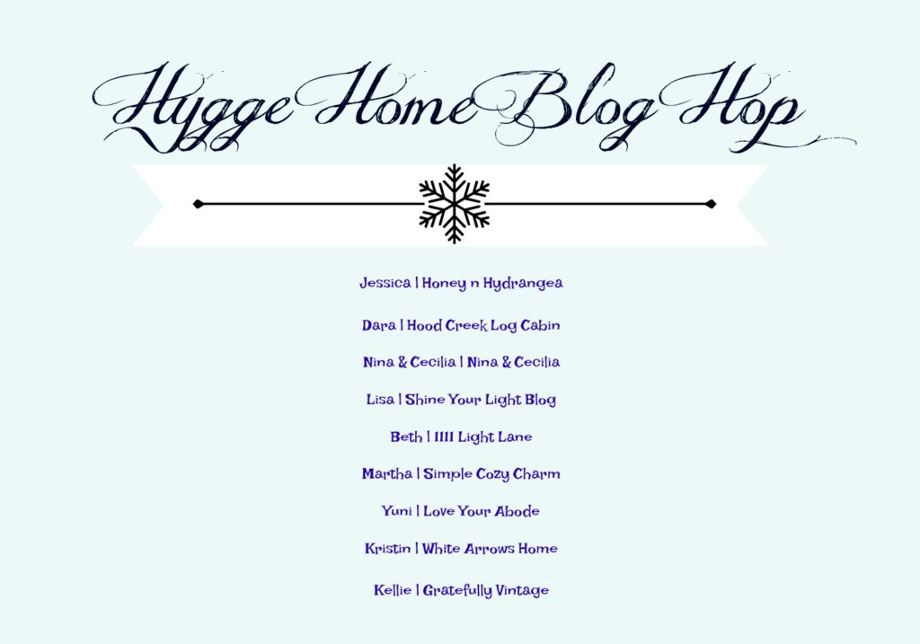 hygge, blog hop, home tour, winter decor, winter