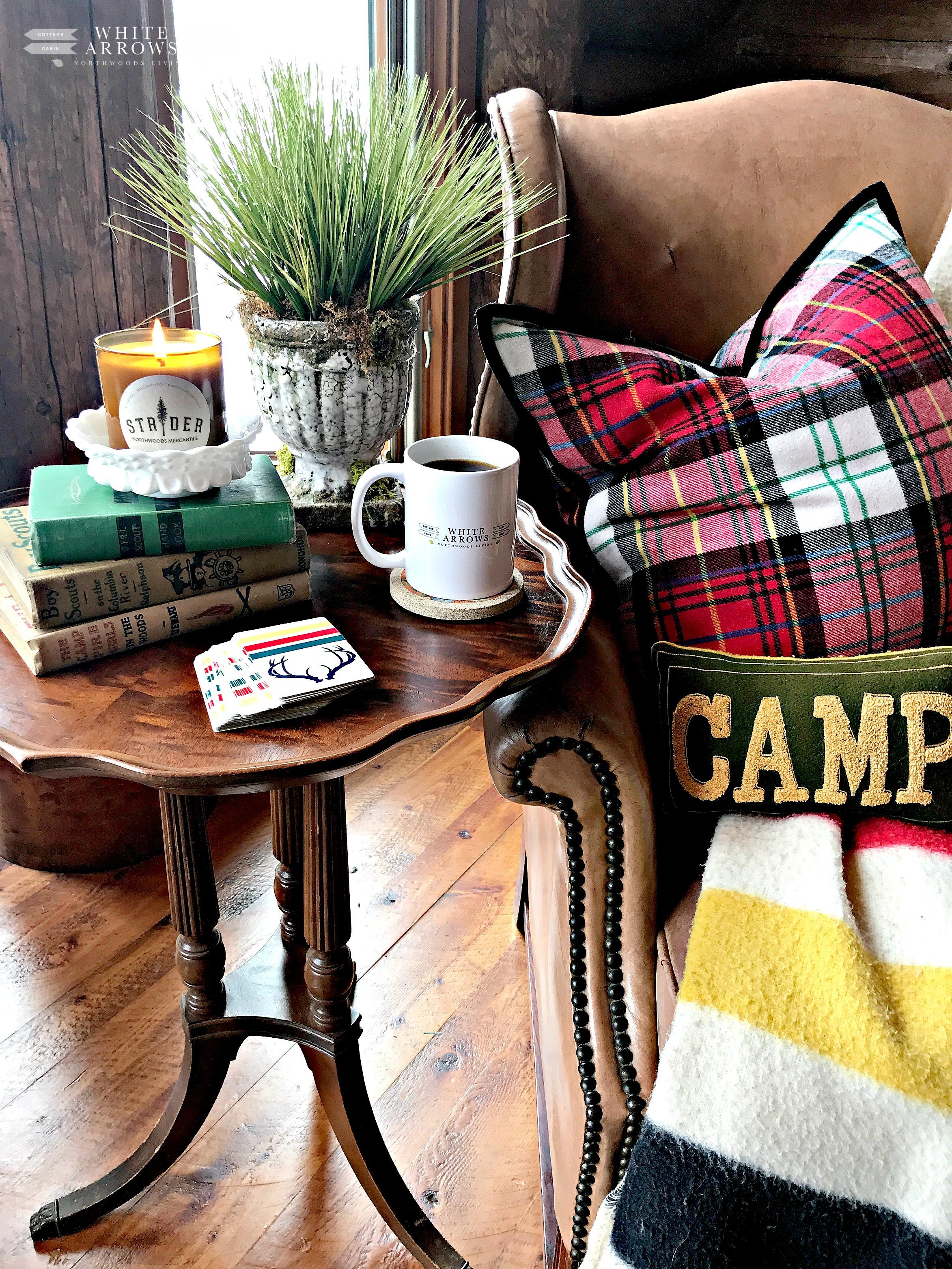 Cabin Decor, Log Cabin, Cabin Style, Plaid Decor