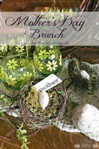 Mother's Day, Vintage Glassware, Birds Nest decor, Mother's Day Brunch