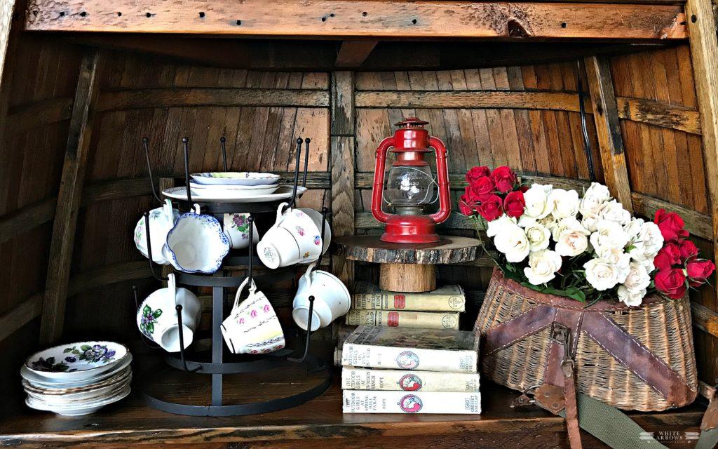 Cabin, Tea Party, Spring Decor, Rustic Decor, Vintage Decor