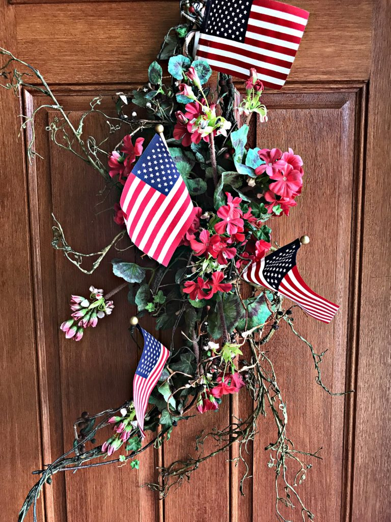 Fourth of July, 4th of July, Porch Decor, Patriotic Decor, Nautical Decor, Vintage Decor, 4th of July wreath