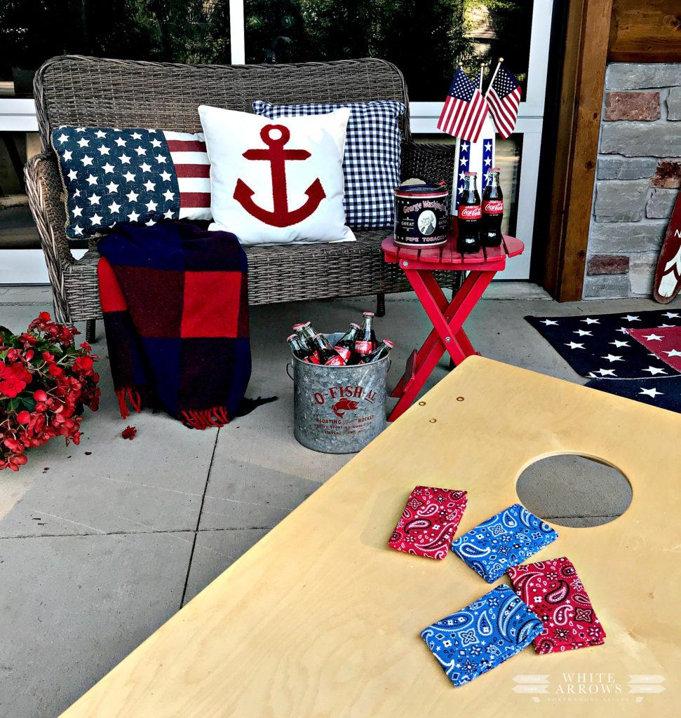 Fourth of July, 4th of July, Porch Decor, Patriotic Decor, Nautical Decor, Vintage Decor