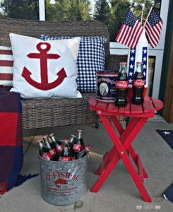 Memorial-Day-Fourth-of-July, 4th of July, Porch Decor, Patriotic Decor, Nautical Decor, Vintage Decor