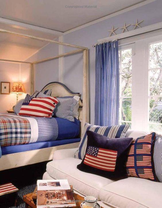 Nautical Decor, Lake House Decor, Madras, Cottage Decor, Coastal Decor