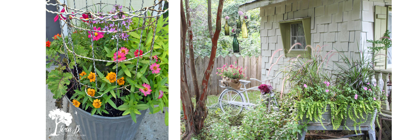 Garden Tour, Blog Hop, Vintage Garden, Garden Art, Flowers