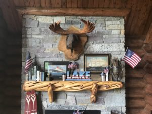 Summer Mantel, Cabin Decor, Rustic Decor, Lake House Decor, 4th of July Decor, Americana