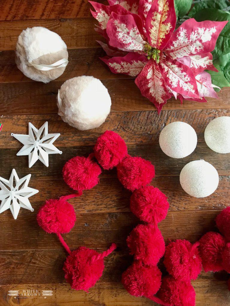 Christmas Decor, Ornaments, White Arrows Home