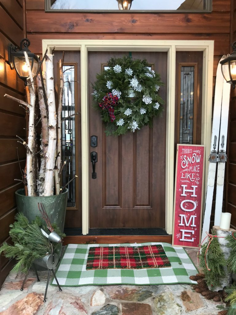Christmas decor, Holiday decor, Christmas wreath, Christmas porch, holiday porch
