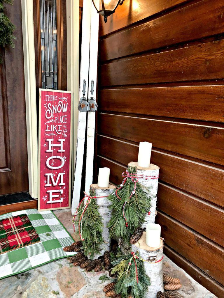 Christmas Decor, Front Porch, Christmas Porch, Holiday Decor, Birch,