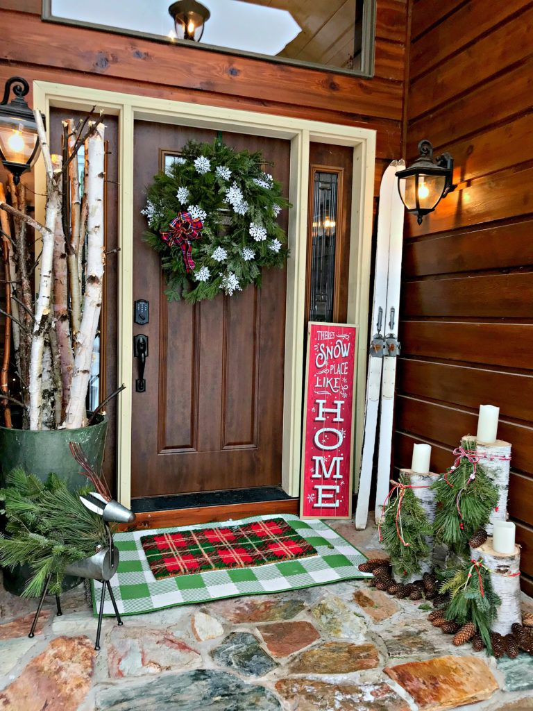 Christmas decor, Holiday Decor, Front Porch, Entry, Rugs, Birch, wreath