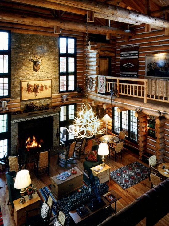lodge-style-hunting-lodge-stone-fireplace