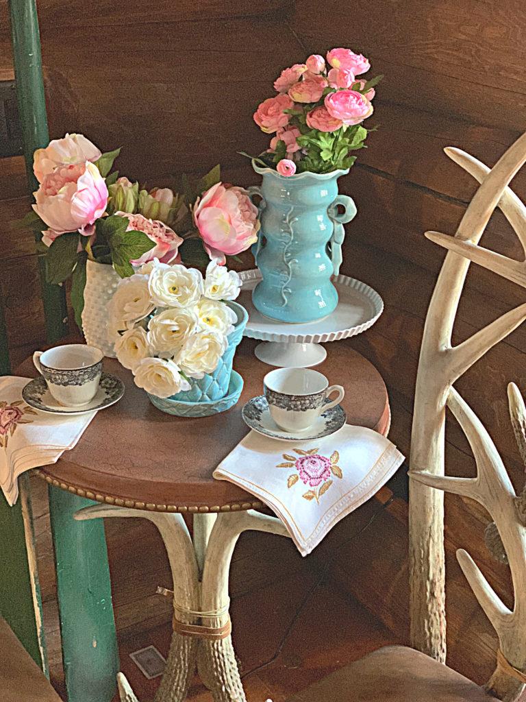 spring-tea-party-blog-hop-mccoy-pottery-faux-flowers
