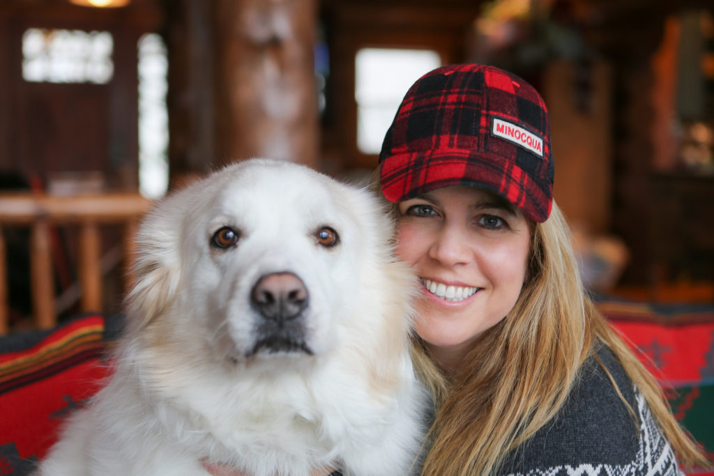 Kristin Lenz with her Great Pyrenees Honey