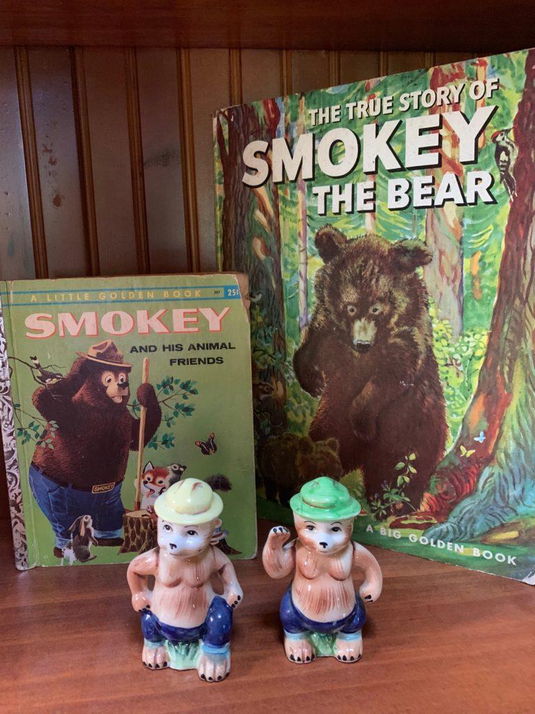 Smokey Bear Books and figurines