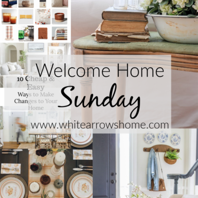 Welcome Home Sunday- Early Fall Ideas