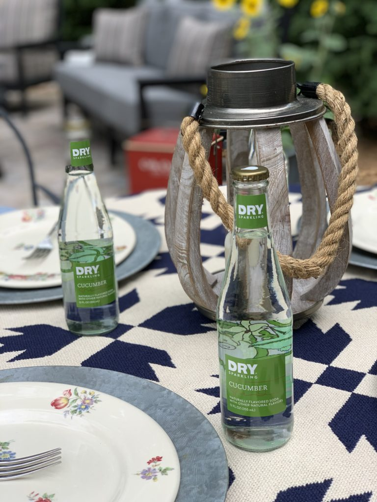 Summer luncheon with flavored cucumber water