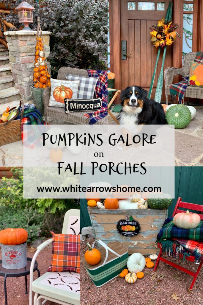Fall Porches Pumpkins