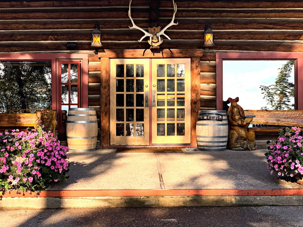 Back door to main lodge Flathead Lake Lodge