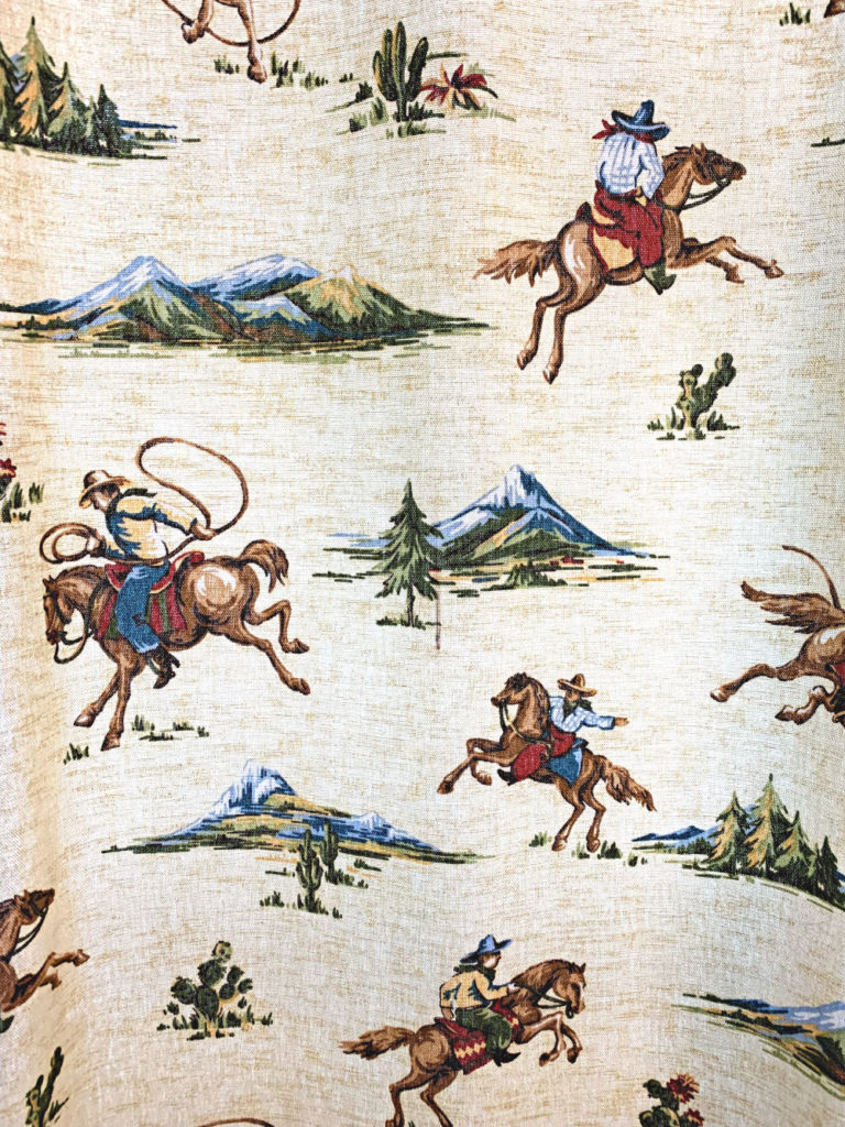 Cowboy curtain pattern